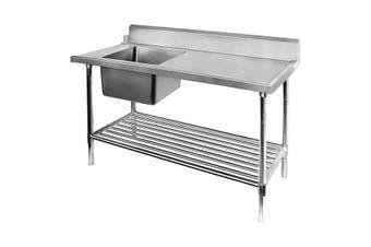 Left Inlet Single Sink Dishwasher Bench SSBD7-1800L/A  Modular Systems