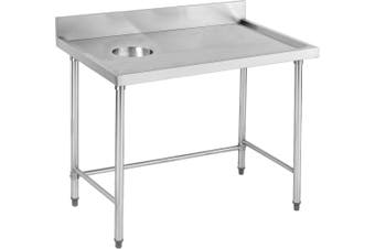 High Quality Stainless Steel Bench with splashback - SWCB-7-1200R  Modular Systems