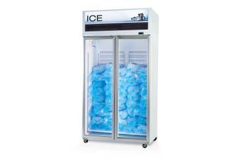 Skope VF1000X 2 Glass or Solid Door Top Mount Ice Freezer