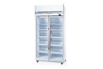Skope VF1000X 2 Glass or Solid Door Top Mount Freezer