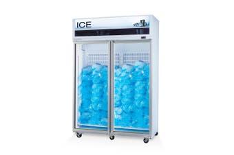 Skope VF1300X 2 Glass or Solid Door Top Mount Ice Freezer