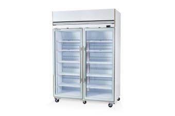 Skope VF1300X 2 Glass or Solid Door Top Mount Freezer