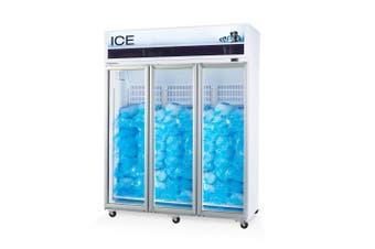 Skope VF1500X 3 Glass or Solid Door Top Mount Ice Freezer