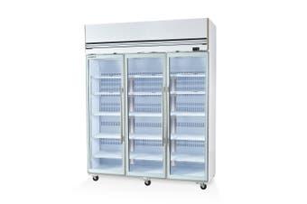 Skope VF1500X 3 Glass or Solid Door Top Mount Freezer