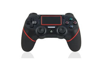 REYTID Wireless Gaming Controller Compatible with Playstation 4, PC, PS3 - Black/Red - TouchPad and Light Bar
