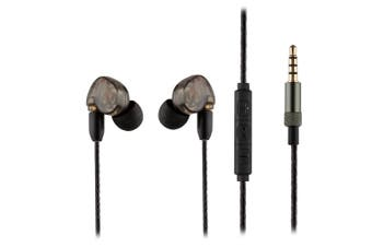 REYTID MMCX Sound-Isolating HD In-Ear Earphones Headphones - Enhanced Bass, Rich Detailed Sound Inline Remote w/ Microphone Volume Control - Compatible with Apple iOS / Android - Black