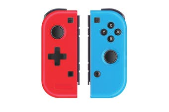REYTID Replacement Joy-Con Wireless Controller Compatible with Nintendo Switch Gaming Console - Bluetooth - Red/Blue