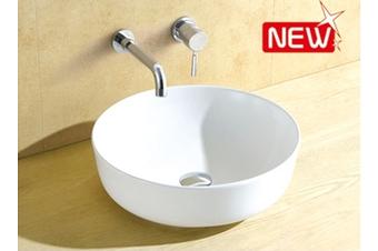 Dala round above counter smooth surface basin