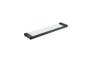 ASTRA glass shower shelf Matt black