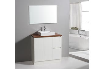 900mm floor vanity with solid timber top