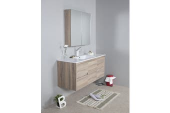 1200mm oak wall hung vanity