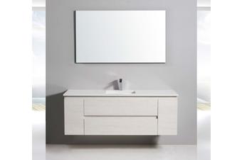 Cream white wall hung vanity 1500mm