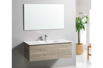 Texture timber finishes wall hung vanity 1200mm