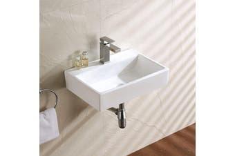 Powder Room Small Wall Hung Ceramic Wash Basin With Bracket