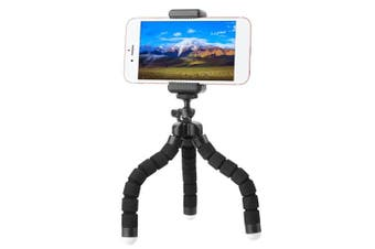 Mini Flexible Sponge Octopus Stand Tripod with BT Remote for iPhone Samsung Huawei Mobile Phone Tripod Stand Holder Gopro Camera DSLR Mount