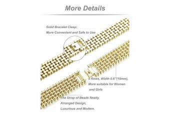 High Quality Watch Band Zinc Alloy Women Fashion Simple Style Wrist Strap for Fitbit Charge 2 Gold