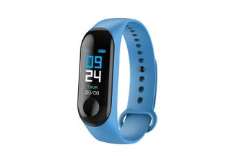 M3plus smart bracelet M3 smart bracelet color screen bracelet heart rate sports step waterproof bracelet manufacturers Dark blue - line charge DarkBlue