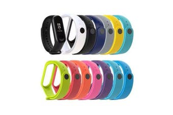A1 Color silicone strap for xiaomi Band 3 and 4 generations- black