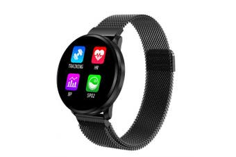 CF68 Full Touch Screen Smart Watch 1.22 Inch Heart Rate Blood Pressure Monitoring Watches- Black China