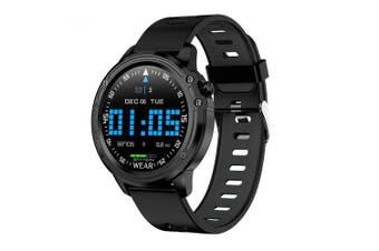 LEEHUR Men Smart Watch IP68 Waterproof Sport Bluetooth Intelligent Watch Wristband- Black