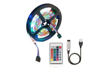 ZDMUSB 5V Flexible Discoloration RGB 2835 LED String Lamp with Remote Control- Multi 1 Meters