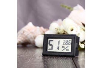 Mini Digital LCD Indoor Thermometer Hygrometer- Black