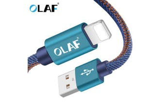 OLAF USB Type-C Cable Fast Charge Data Cable for Iphone X Samsung Galaxy S8 Note 9 Huawei Mate 20- 25cm Blue For iphone