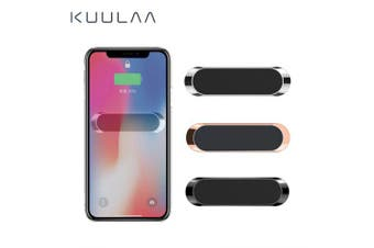 KUULAA Mini Strip Shape Magnetic Car Phone Holder Stand wall metal Magnet Car Mount Dashboard- Gray-1pcs