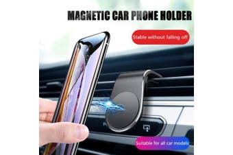 OLAF Universal Air Vent Magnet Car Phone Holder Stand for Iphone Huawei Samsung Mobile Phone- Black