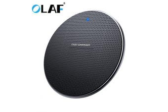 OLAF 10W Wireless Fast Charger for iPhone Xs Max X 8 Plus for Samsung Note 9 Note 8 S10 Plus- Black Universal