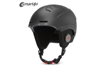 Smart4u Bluetooth Ski Helmet with IPX4 Waterproof Detachable Lining from Xiaomi youpin- Black M