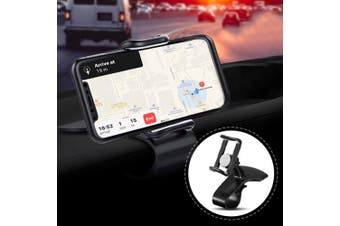 360-Degree Rotation Car Phone Holder- Black