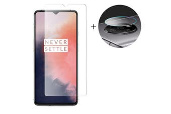 Lens Protective Film + Glass Screen Protector for OnePlus 7T- Transparent