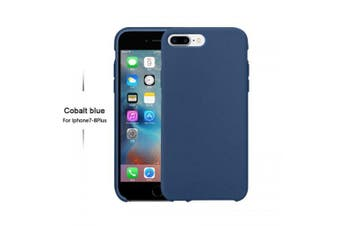 OLAF Original Solid Silicone Thin Soft for iPhone Case for iphone 7 plus 8 plus Candy Colorful Logo- Cobalt blue For iphone 7plus 8plus Silicon