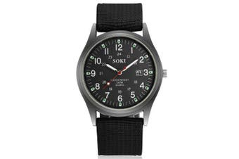 Men TrendySimple Design Waterproof Watch Accessory- Black