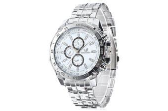 ORLANDO 410 Decorative Sub-dials Men Quartz Watch- White