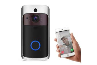 Stalwall L10 Wireless Smart Video Doorbell Home Security Camera PIR Detection Micro SD Local Storage- Black