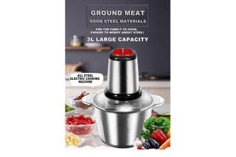 Household electric meat grinder Stainless steel meat grinder- 2L