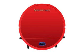 3-in-1 Mini Automatic Robot Vacuum Cleaner Floor Cleaning Cleaner- Red China