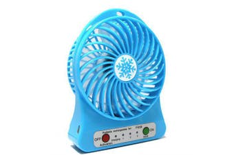 Portable Hand-held Electric USB Fan- Deep Sky Blue