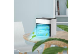 Bilikay Mini Air Humidifier Purifier Cooling Fan- White