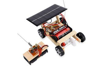Educational DIY Assembled Solar Remote Control Car Toy Set- Apricot