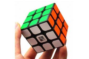 YJ 3 x 3 x 3 Speed Smooth Magic Cube Finger Puzzle Fidget Toy- Black