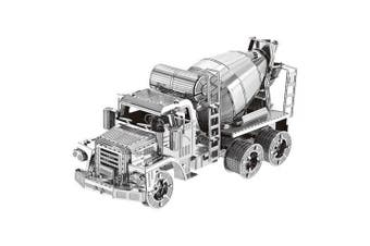 3D Metal Cement Mixer Model Puzzle Toy- Silver