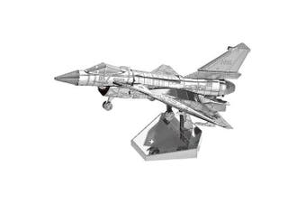 3D Metal Jigsaw Fighter Plane Puzzle Model Toy- Silver