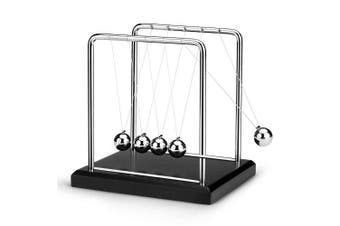Newton Cradle Metal Balance Balls Permanent Motion Office Desk Decoration- Silver S
