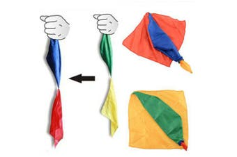 Four-color Silk Scarves Change Color Magic Close-up Conjuring Prop- Multi-A