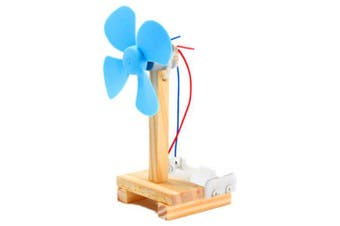 DIY Technology Invention Small Fan Creative Assembly Blocks Toys Kit- Light Blue