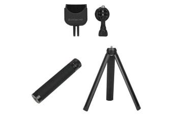 Sunnylife 1 / 4 Adapter Multi-function Extension + Tripod + Extension Rod for DJI OSMO POCKET GOPRO- Black