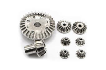 Differential Gear Set for Wltoys 12428 12423 12628 RC Car- Silver